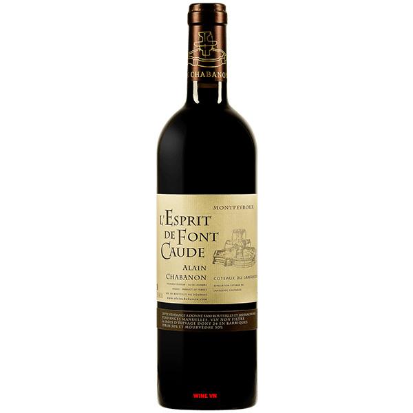 Rượu Vang Alain Chabanon L'Esprit De Font Caude Montpeyroux
