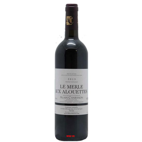 Rượu Vang Alain Chabanon Le Merle Aux Alouettes