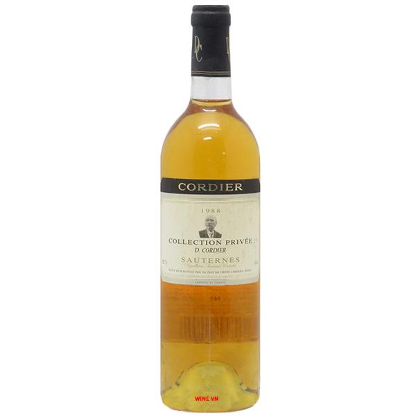Rượu Vang Cordier Collection Privee Sauternes