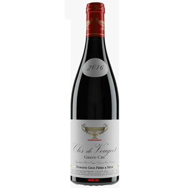 Rượu Vang Domaine Gros Frere et Soeur Clos de Vougeot Grand Cru