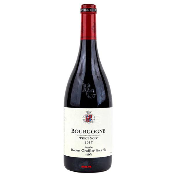 Rượu Vang Robert Groffier Pinot Noir Bourgogne