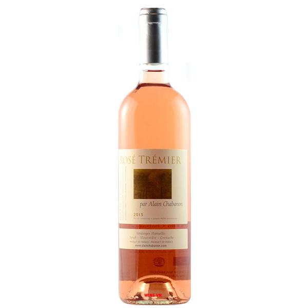 Rượu Vang Rose Tremier Par Alain Chabanon