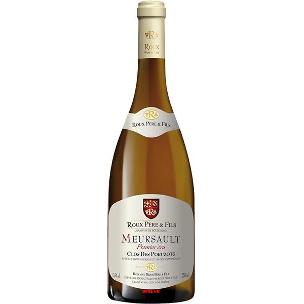 Rượu Vang Roux Pere & Fils Meursault Clos Des Poruzots