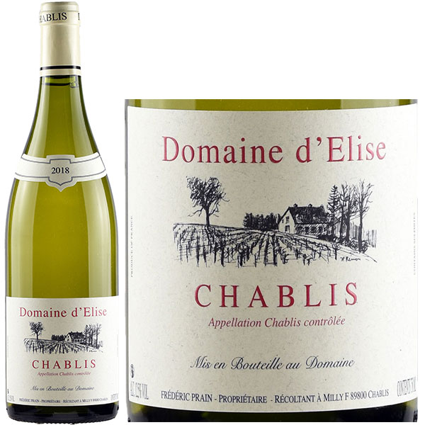 Rượu Vang Trắng Domaine D'Elise Chablis