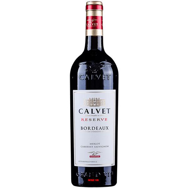 Rượu Vang Calvet Reserve Bordeaux Merlot - Cabernet Sauvignon