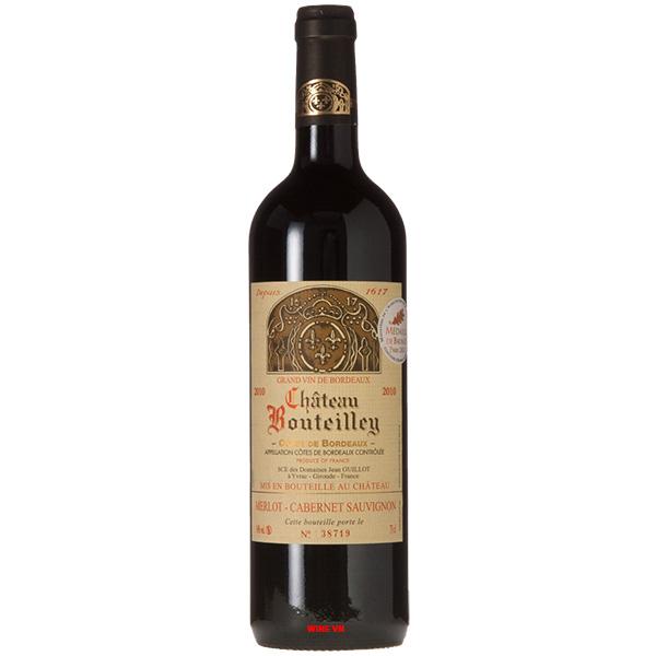 Rượu Vang Chateau Bouteilley Cotes De Bordeaux
