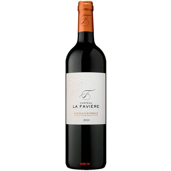 Rượu Vang Chateau La Faviere Bordeaux Superieur