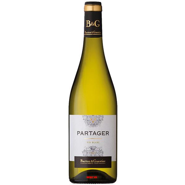 Rượu Vang Partager Vin Blanc Barton & Guestier