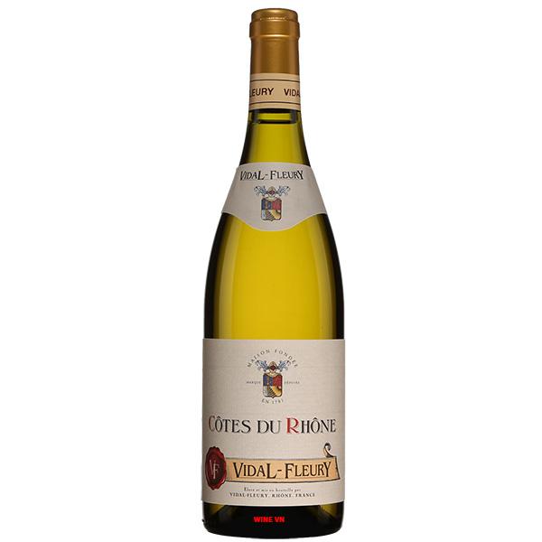 Rượu Vang Trắng Vidal Fleury Cotes Du Rhone