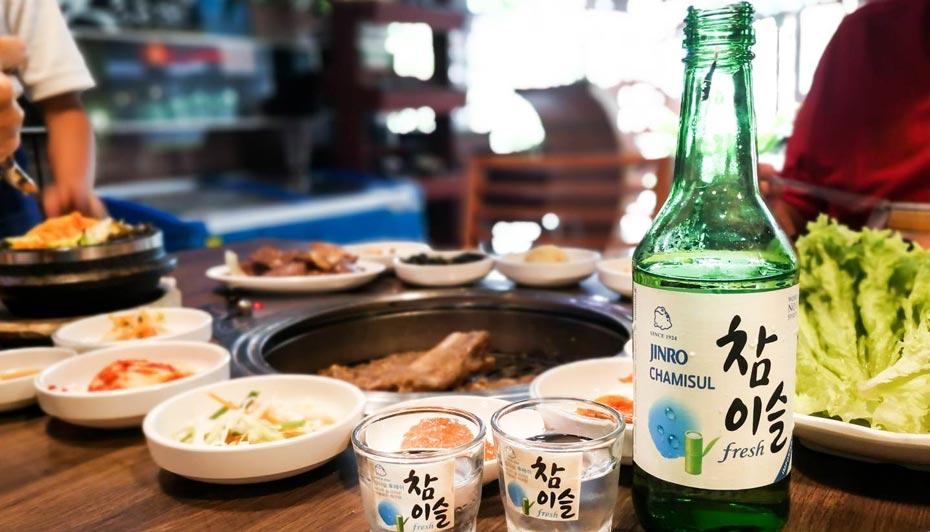 Món ăn thưởng thức kèm với Soju