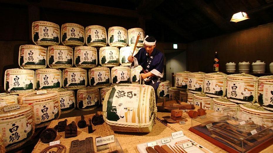 tham quan xưởng sản xuất Sake