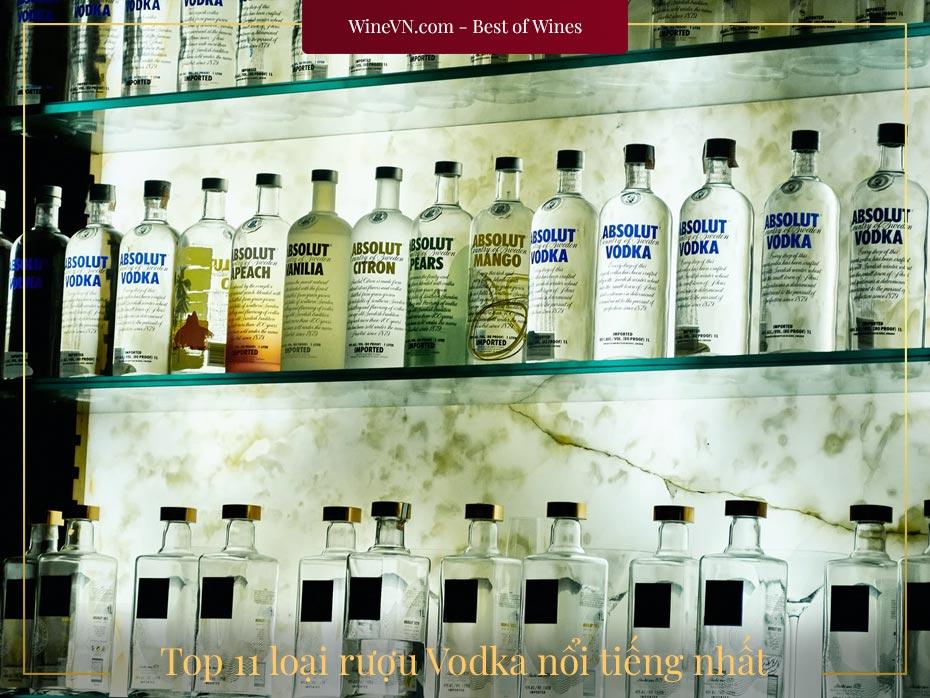 top rượu Vodka nổi tiếng