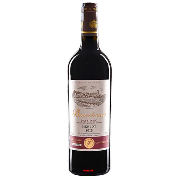 Rượu Vang Bonechance Merlot