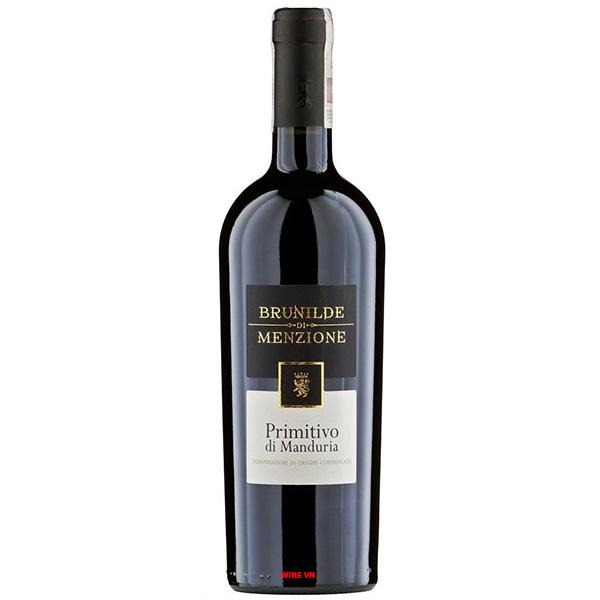 Rượu Vang Brunilde Di Menzione Primitivo Di Manduria