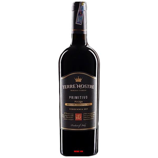 Rượu Vang Terre Nostre Primitivo