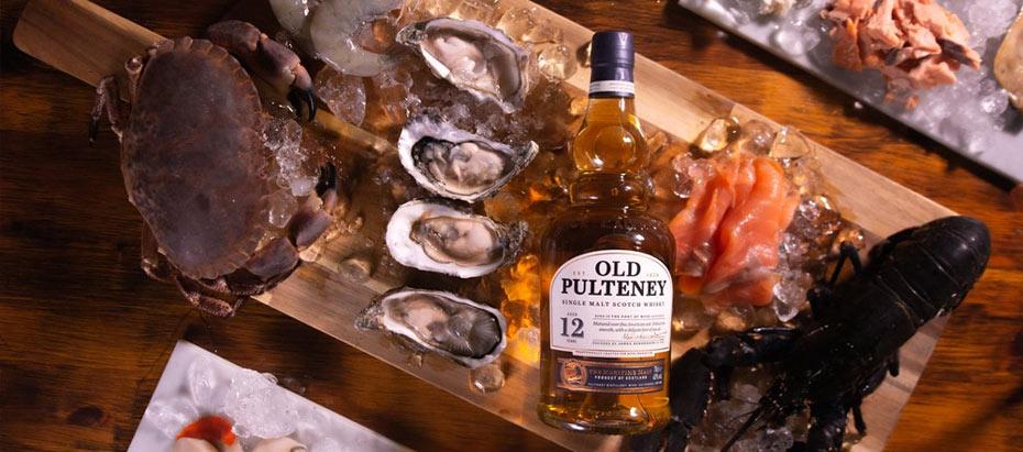 hải sản với rượu Whisky