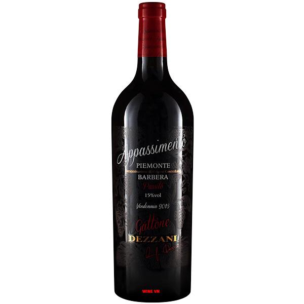 Rượu Vang Gattone Appassimento Piemonte Barbera