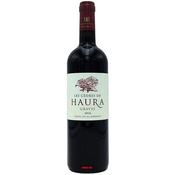 Rượu Vang Les Cedres De Haura