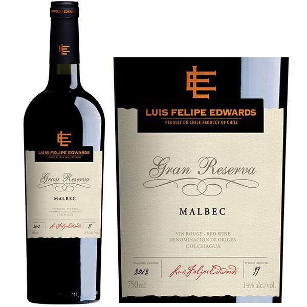 Rượu Vang Luis Felipe Edwards Gran Reserva Malbec