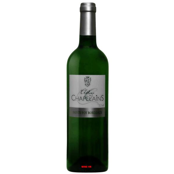 Rượu Vang Trắng Chateau Des Chapelains Sainte Foy