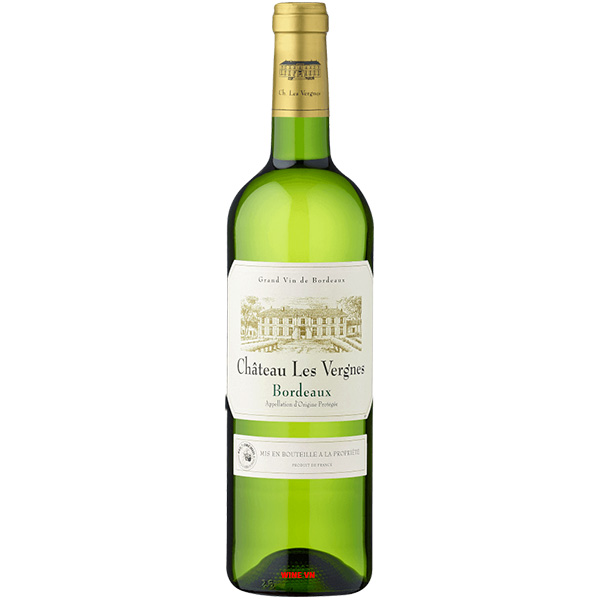 Rượu Vang Trắng Chateau Les Vergnes