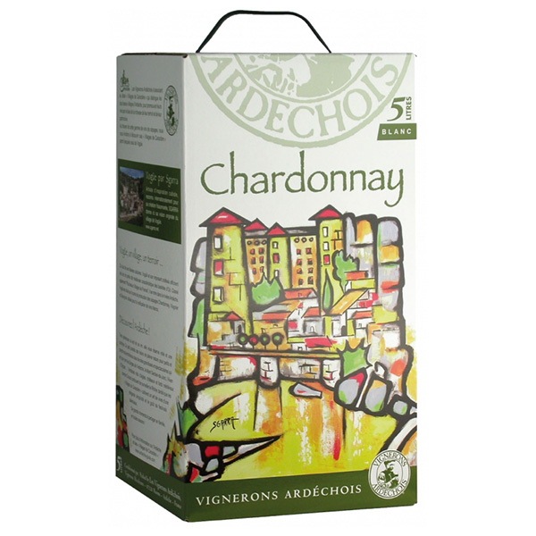 Rượu Vang Bịch Vignerons Ardechois Chardonnay