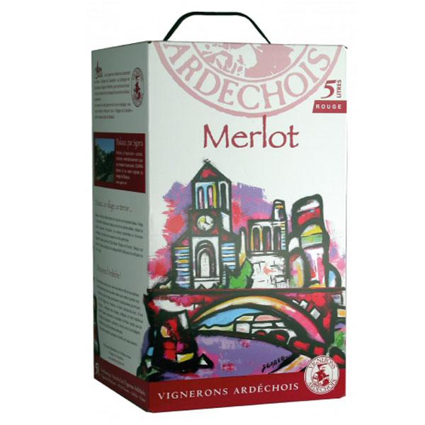 Rượu Vang Bịch Vignerons Ardechois Merlot
