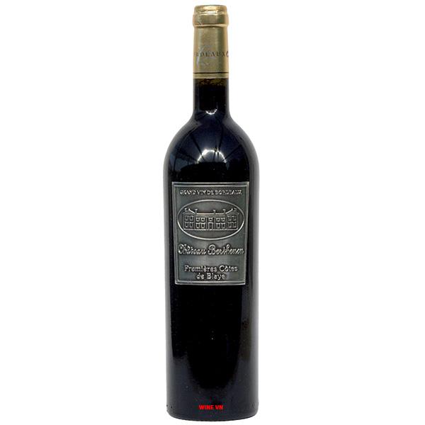 Rượu Vang Chateau Berthenon Premieres Cotes De Blaye