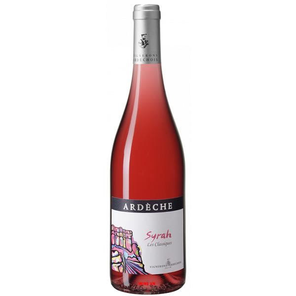 Rượu Vang Hồng Vignerons Ardechois Ardeche Syrah