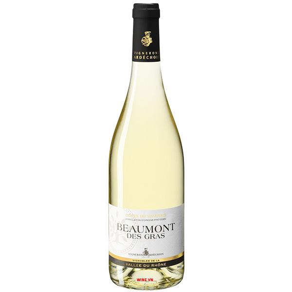 Rượu Vang Trắng Vignerons Ardechois Beaumont Des Gras