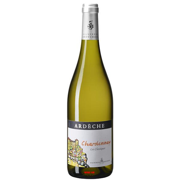 Rượu Vang Vignerons Ardechois Ardeche Chardonnay