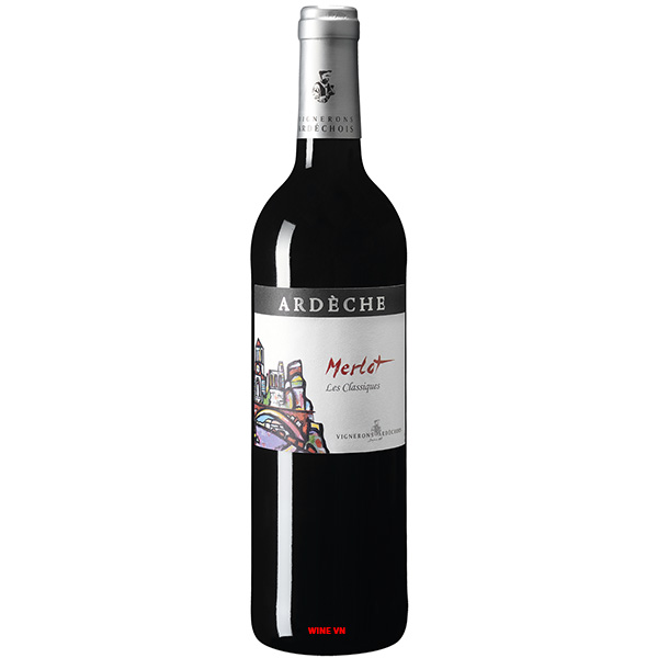 Rượu Vang Vignerons Ardechois Ardeche Les Classiques Merlot