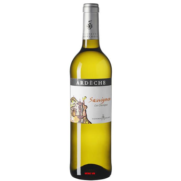 Rượu Vang Vignerons Ardechois Ardeche Sauvignon Blanc