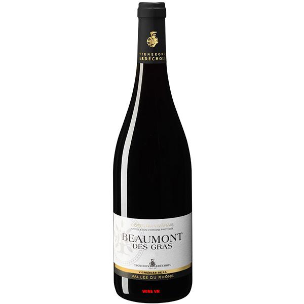 Rượu Vang Vignerons Ardechois Beaumont Des Gras