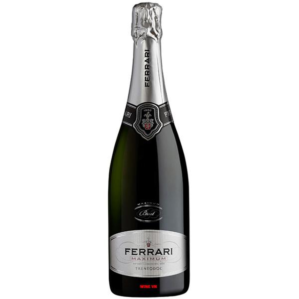 Rượu Champagne Ferrari Maximum Brut Trentodoc