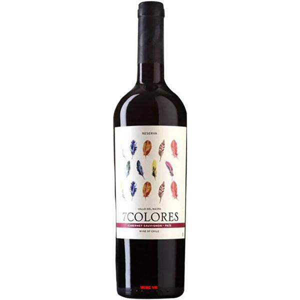 Rượu Vang 7Colores Reserva Cabernet Sauvignon - Pais