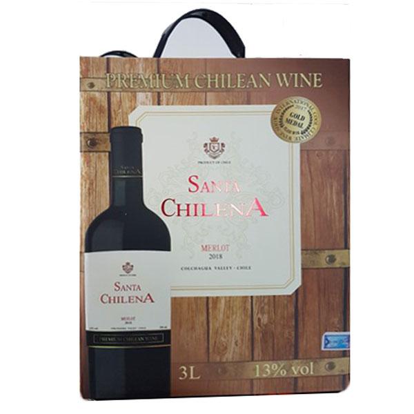 Rượu Vang Bịch Santa Chilena Merlot
