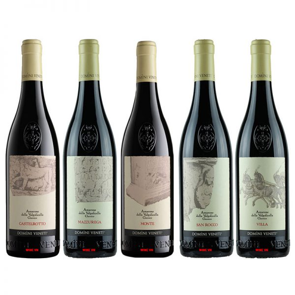 Rượu Vang Domini Veneti Amarone Collection (Bộ 5 Chai)