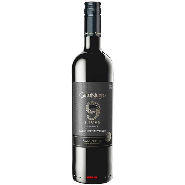 Rượu Vang Gato Negro 9 Live Reserve Cabernet Sauvignon