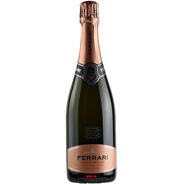 Rượu Vang Nổ Ferrari Maximum Rose Trentodoc