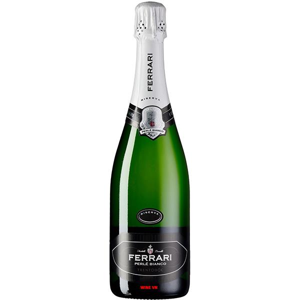 Rượu Vang Nổ Ferrari Perle Bianco Riserva Trentodoc