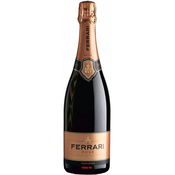 Rượu Vang Nổ Ferrari Rose Trentodoc