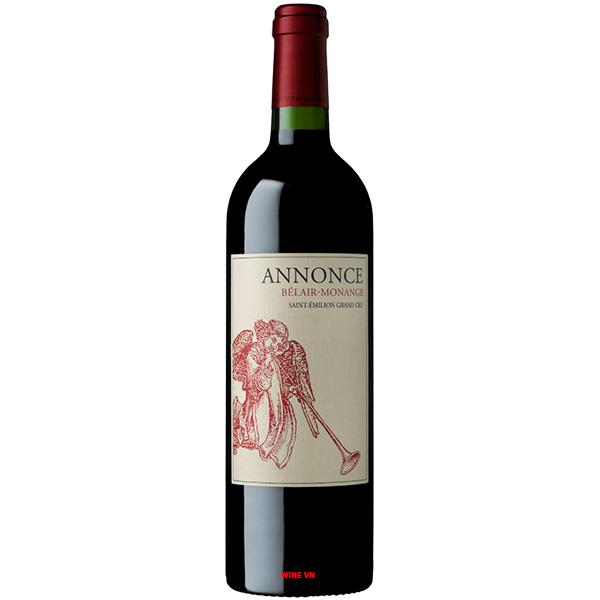 Rượu Vang Annonce Belair Monange Saint Emilion Grand Cru