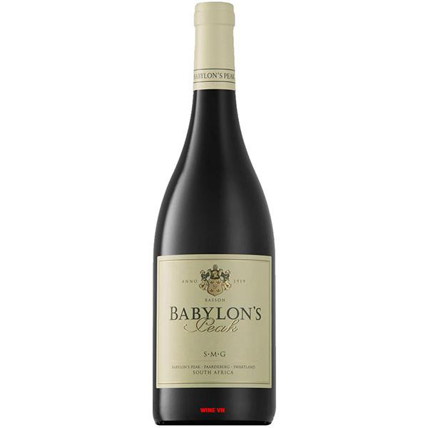 Rượu Vang Babylon's Peak SMG