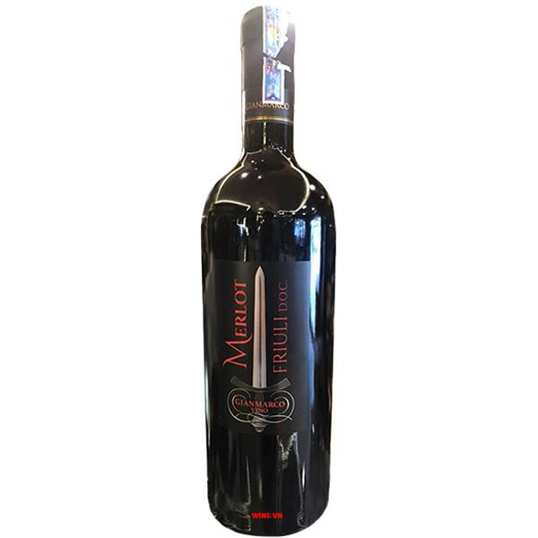 Rượu Vang Gianmarco Vino Merlot Friuli Doc