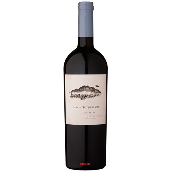 Rượu Vang Mount Sutherland Syrah