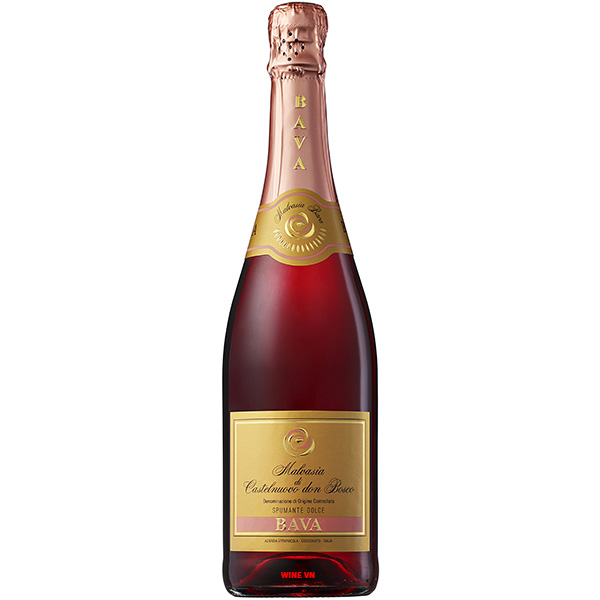 Rượu Vang Nổ Bava Malvasia Rose Spumante Dolce