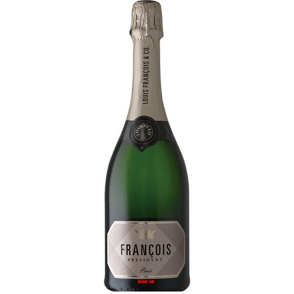 Rượu Vang Nổ Francois President Brut