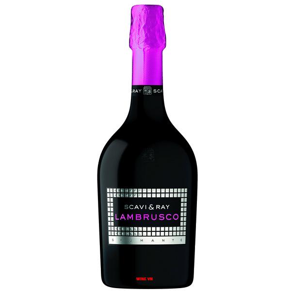 Rượu Vang Nổ Scavi & Ray Lambrusco Spumante
