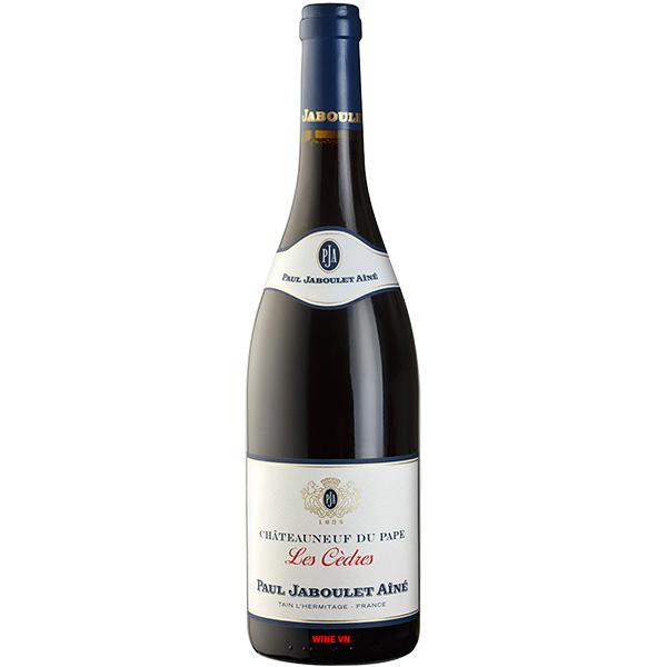 Rượu Vang Paul Jaboulet Ainé Châteauneuf Du Pape Les Cedres